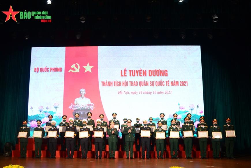 Bộ Quốc phòng tuyên dương thành tích Hội thao Quân sự Quốc tế (Army Games 2021)