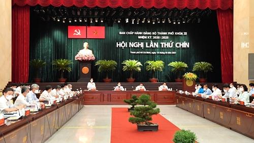 Hội nghị Thành ủy TP Hồ Chí Minh lần thứ 9 bàn nhiều nội dung quan trọng