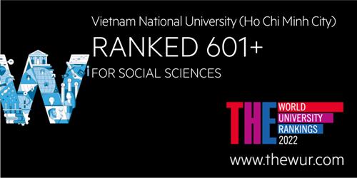 Đại học Quốc gia TP Hồ Chí Minh xếp hạng cao trên thế giới