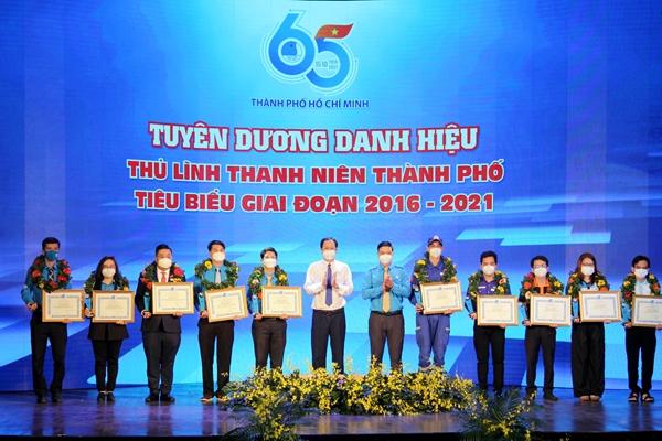 TP Hồ Chí Minh tuyên dương 65 gương thủ lĩnh thanh niên tiêu biểu