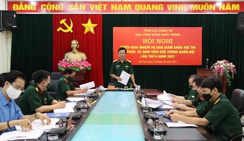 Triển khai nhiệm vụ Ban Giám khảo Hội thi An toàn, vệ sinh viên giỏi trong Quân đội lần thứ II năm 2021
