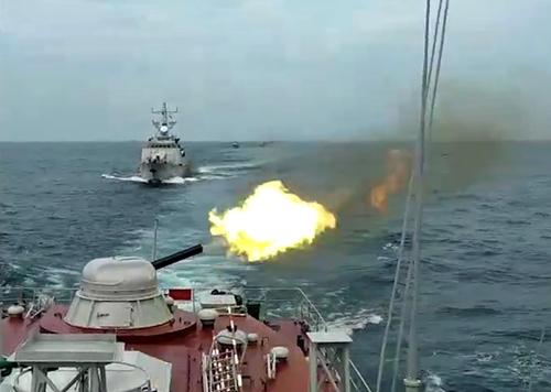 Lữ đoàn 127, Vùng 5 Hải quân kiểm tra bắn đạn thật trên biển