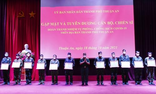 Thành phố Thuận An tri ân cán bộ, chiến sĩ Sư đoàn 7