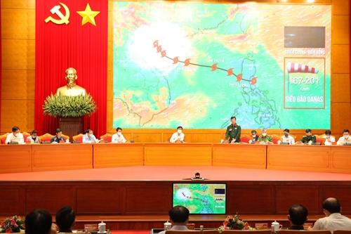 Siêu bão DANAS (bão số 9) vào Quảng Ninh trong tình huống diễn tập phòng thủ dân sự