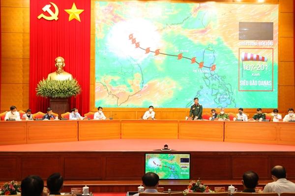 Siêu bão DANAS bão số 9 vào Quảng Ninh trong tình huống diễn tập phòng thủ dân sự