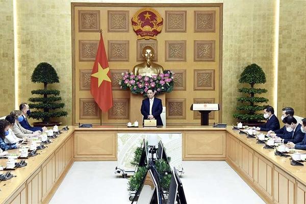 Thủ tướng Phạm Minh Chính tiếp ông Kidong Parkc và đại diện các tổ chức Liên hợp quốc