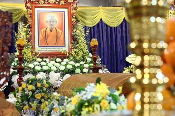 Cử hành lễ viếng Đại lão Hòa thượng, Đức Pháp chủ Giáo hội Phật giáo Việt Nam Thích Phổ Tuệ