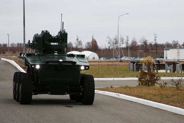 """Robot tuần tra """"Marker"""" Vũ khí bí mật bảo vệ sân bay vũ trụ của Nga"""