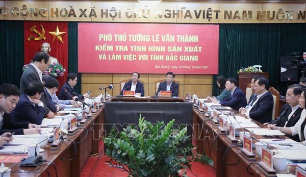 """Phó thủ tướng Lê Văn Thành """"Phục hồi sản xuất nhanh nhưng phải bảo đảm an toàn dịch bệnh"""""""