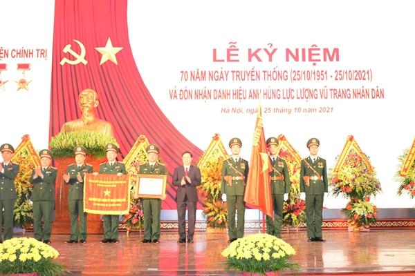 Học viện Chính trị đón nhận Danh hiệu Anh hùng Lực lượng vũ trang nhân dân thời kỳ đổi mới