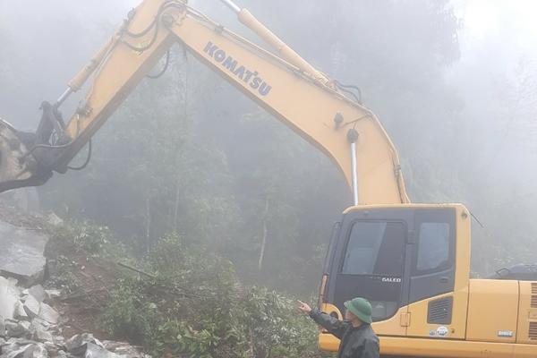 Đoàn Kinh tế - Quốc phòng 345 khắc phục sạt lở đất đá