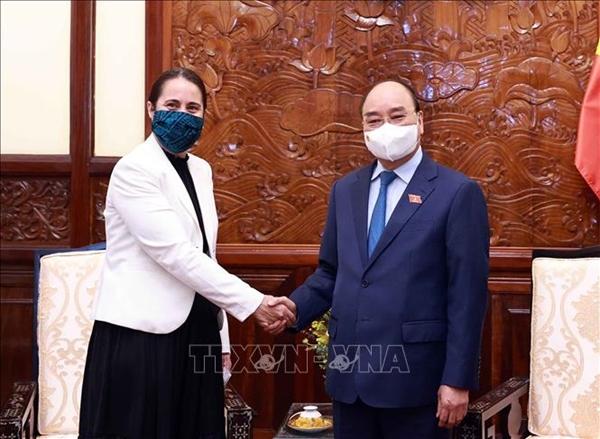 Chủ tịch nước Nguyễn Xuân Phúc mong muốn kim ngạch thương mại Việt Nam-New Zealand đạt 2 tỷ USD