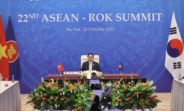 Thủ tướng Phạm Minh Chính dự Hội nghị Cấp cao trực tuyến ASEAN - Hàn Quốc lần thứ 22