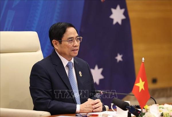 Thủ tướng Phạm Minh Chính mong muốn Australia tiếp tục ủng hộ ASEAN trong các hoạt động tại Biển Đông