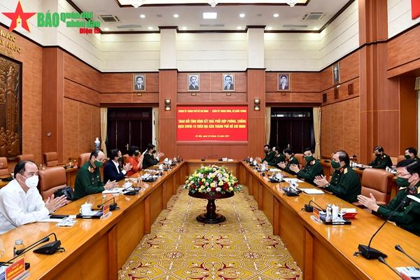 Quân đội đã ủng hộ, chi viện TP Hồ Chí Minh chí tình, chí nghĩa với trách nhiệm cao nhất