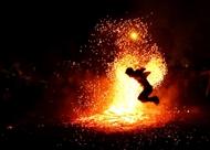 巴天族的跳火节(组图)