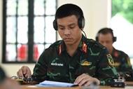 越南通信联络赛队为参加2021年国际军事比赛做好准备
