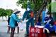 胡志明市的民兵积极投身疫情防控工作
