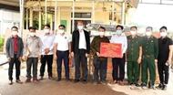 广治省向老挝沙拉湾省赠送防控疫情的医疗物资