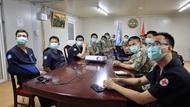 越南和印度野战医院联合举行在线业务培训