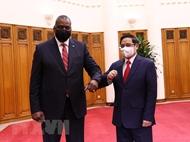 越南政府总理范明政会见会美国防长奥斯汀
