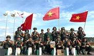 越南国防部部长向参加2021年国际军事比赛的干部和战士致信