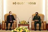 潘文江大将会见俄罗斯驻越南大使