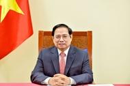 越南政府总理范明政出席2021年全球服务贸易峰会