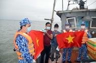 携手帮助渔民