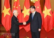越南党和国家领导人向中国领导人致贺电 祝贺中国国庆节