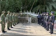 检查河江-云南边界线上的执法活动