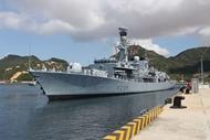 英国皇家海军舰艇抵达金兰国际港