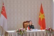 越南和新加坡以视频形式举行第12次国防政策对话