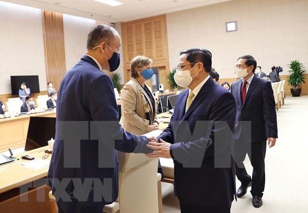 范明政总理会见联合国各组织常驻越南首席代表