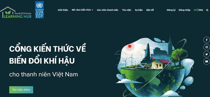 针对越南青年有关气候变化的首个信息门户网站正式亮相