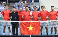 ທີມເຕັນນິດຫວຽດນາມ ຍາດໄດ້ສະລັອດເຂົ້າແຂ່ງຂັນຮອບ play-off Davis Cup ກຸ່ມ II ໂລກ