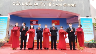 ពិធីប្រកាសដាក់ឲ្យប្រើប្រាស់នូវច្រកទ្វារព្រំដែនអន្តរជាតិទ្វេភាគី Nam Giang – Dac Ta Ooc