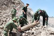 Huge bomb moved to safer place for detonation