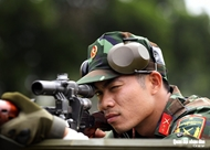 Vietnamese snipers in advanced training for Army Games 2021