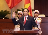 Prime Minister Pham Minh Chinh receives congratulation from Cambodian Government leader