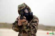 Vietnamese chemical troops train on desert