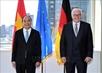 President meets German counterpart, concludes U.S. trip