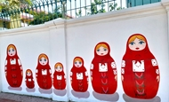 Mural paintings highlight Vietnam-Russia friendship